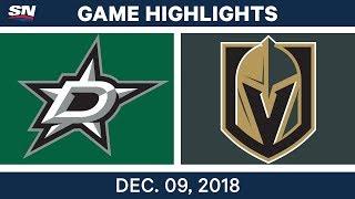 NHL Highlights | Stars vs. Golden Knights - Dec 9, 2018