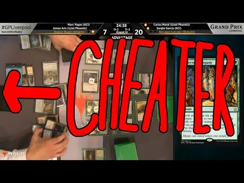 Another Player Caught Cheating at Grand Prix Liverpool On Camera