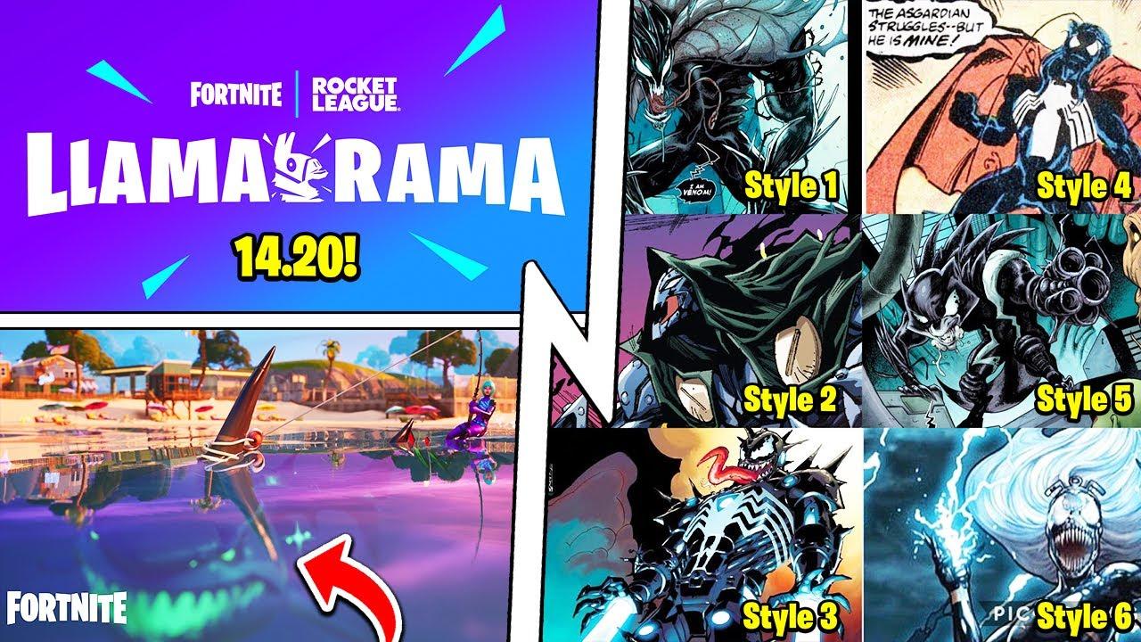 14.20 Llama Rama Update, FREE Everything, Venom Skin Styles!