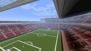 Manchester United Old Trafford stadium in minecraft megabuild + Save !