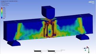 ANSYS Reinforced Concrete Beam (RC BEAM) - Explicit Dynamics