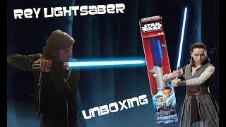 Star Wars The Force Awakens REY SABLE ELECTRONICO UNBOXING