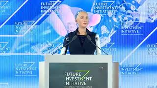 The Interview with Sophia The AI Robot at Future Investment Initiative Conference