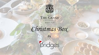 The Grand Christmas Box by Bridges 4-course dinner instructions video