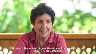 Planta de tratamiento Puerto Viejo - Historiadora María Suarez y residente Paolo Trobia
