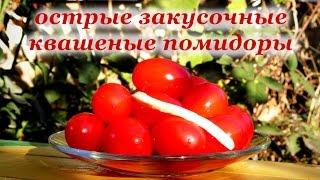 Квашеные помидоры на зиму, острые закусочные