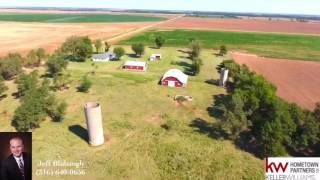 Farm House, Barn, Shop and Land for Sale in Danville Harper County Kansas