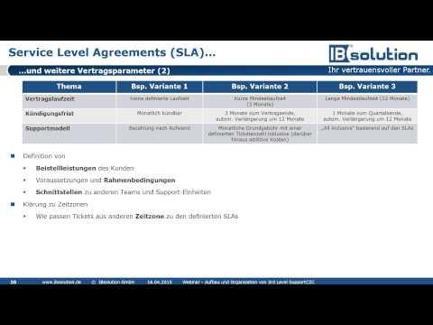 Aufbau und Organisation eines 3rd Level Supports - Level 1