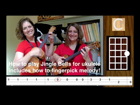 Jingle Bells Ukulele Easy Play Along Tutorial - 21 Ukulele Songs