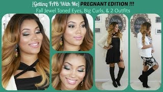 {Getting Fab With Me} PREGNANT EDITION! Fall Jewel Tone Eyes, Big Curls & 2 Outfits Thumbnail