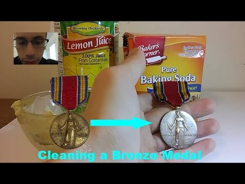 Cleaning/Polishing a Bronze WW2 USA Victory Medal