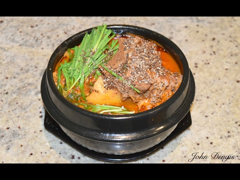 Korean Pork Bone Soup (Gamjatang) | John Dengis