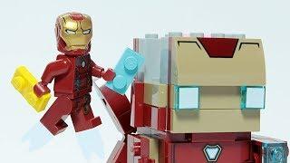 Lego Iron Man Brick Building Brick Headz Avengers Animation for Kids
