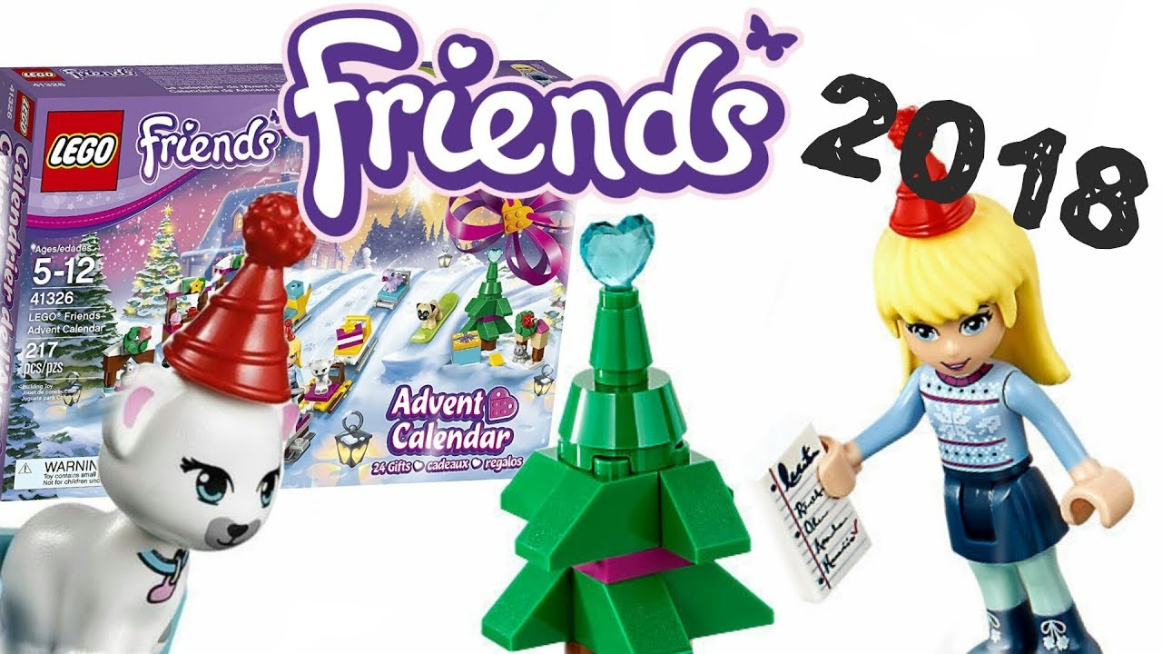 Lego Friends Christmas Sets.Lego News Lego Friends 2018 Advent Calendar Set 41326 Christmas Set Official Pictures