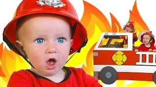 Canción de bomberos + otras | Colección de las mejores Canciones Infantiles con Katya y Dima