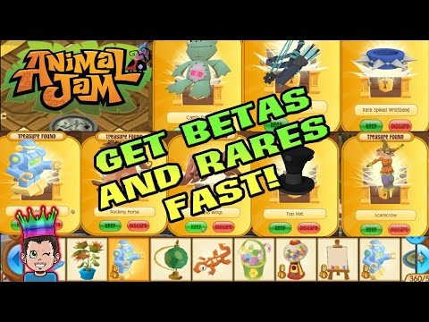 How To Get Spikes, Betas & Rares Fast on Animal Jam!!! The Forgotten Desert