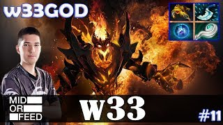 w33 - Shadow Fiend MID | w33GOD | Dota 2 Pro MMR Gameplay #11