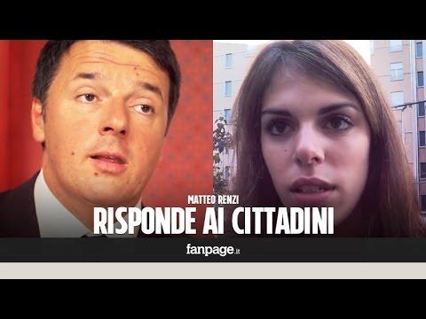Matteo Renzi risponde alle domande dei cittadini su Equitalia, tasse, referendum, scuola e immigrazi