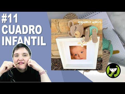 CUADRO INFANTIL AMIGURUMI 11 paso a paso