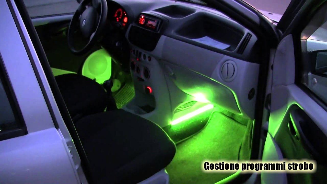 kit luci led auto luci cortesia cromoterapia luci