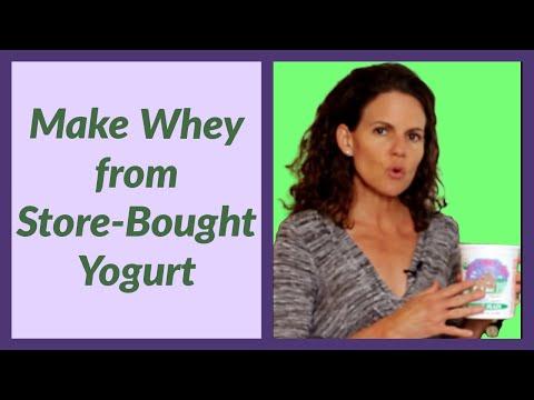 Separating Liquid Whey from Store Yogurt