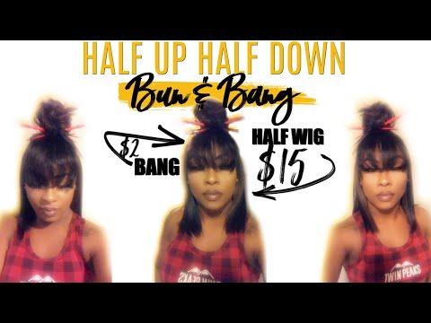 half-up-half-down-(bang-&-bun)-using-beauty-supply-store-hair-(less-than-$20!)