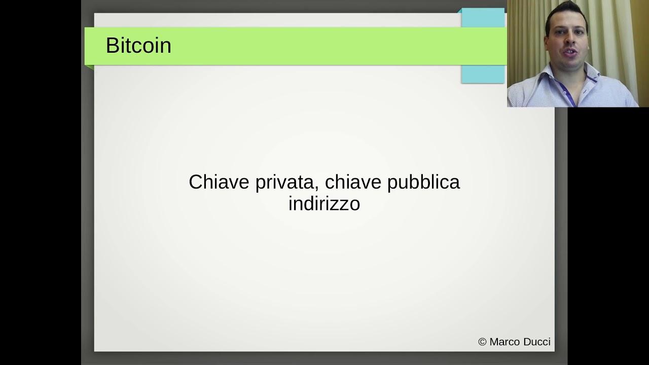 indirizzo bitcoin a chiave privata indicatori crittografici