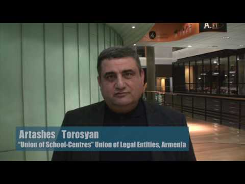 "Video statement by Mr Artashes Torosyan, ""Union of School-Centres"" Union of Legal Entities, Armenia"