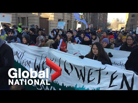 Global National: Feb. 22, 2020   Tensions remain as rail blockade standoff still unresolved