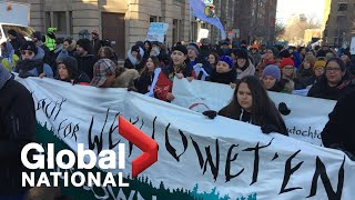 Global National: Feb. 22, 2020 | Tensions remain as rail blockade standoff still unresolved