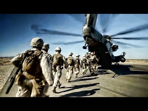 Marines Fast Rope From CH-53E Helicopter • Combat Training