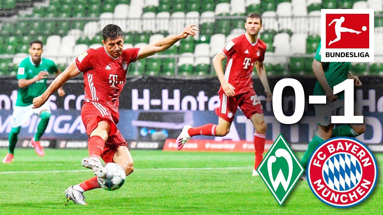 Werder Bremen vs. FC Bayern München I Lewandowski Goal And Neuer's Super Save Seal Title