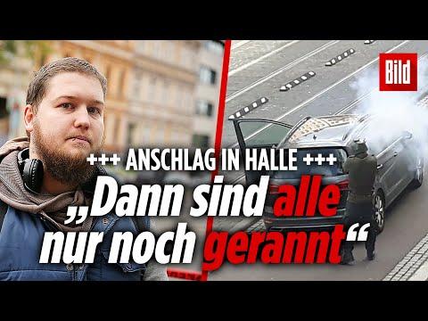 Augenzeugen berichten: Anschlag vor der Synagoge im Paulus-Viertel in Halle