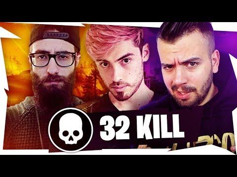 32 BOMBE CON POWER E MARZA - SFIORATO IL MIO RECORD DI KILL! - Fortnite Battle Royale