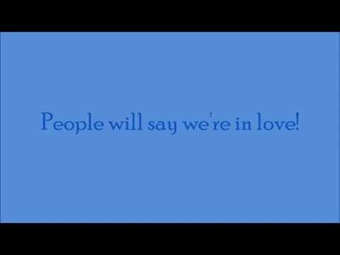 Oklahoma: People Will Say We're in Love Lyrics video
