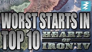 Top 10 Worst Starts In Hearts of Iron 4 HOI4