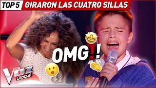 GIRARON TODAS las SILLAS con sus IMPRESIONANTES voces