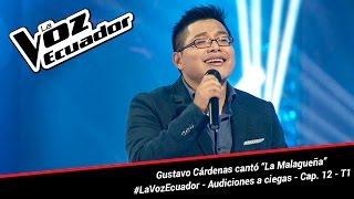"""Gustavo Cárdenas cantó """"La Malagueña"""" - La Voz Ecuador - Audiciones a ciegas - Cap. 12 - T1"""