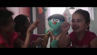 Syrian refugee children learn healthy habits from Sesame Street's Raya