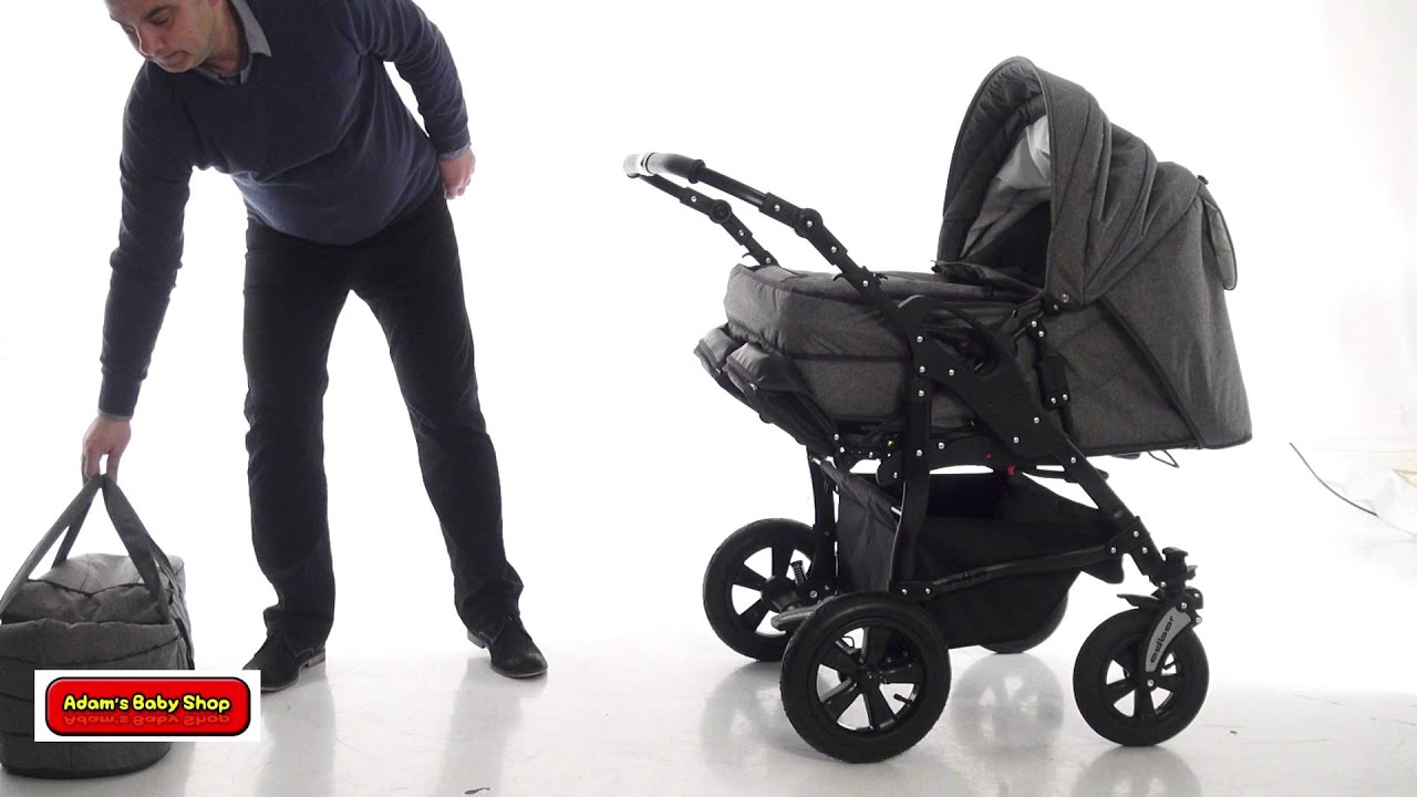 Zwillingskinderwagen emmaljunga  Duo stars - Adam's baby shop - YouTube
