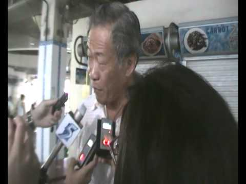 Dr Ng Eng Hen's interview with the media at Blk 127 market, Toa Payoh - 2 May 2011