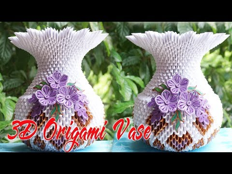 How To Make 3d Origami Flower Vase V1 Flor De Origami 3d Florero