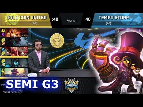 Gold Coin United vs Tempo Storm Game 3 | Semi Finals S7 NA CS Summer 2017 | GCU vs TS G3 1080p