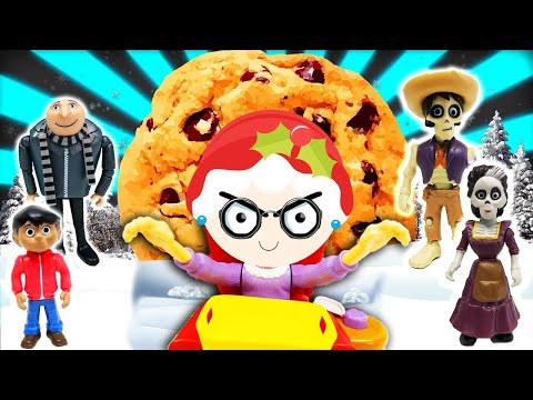 Thumbnail: Coco & Despicable Me Greedy Granny Game! Kids VS Adults Miguel Agnes Margo VS Gru Hector Imelda Lucy