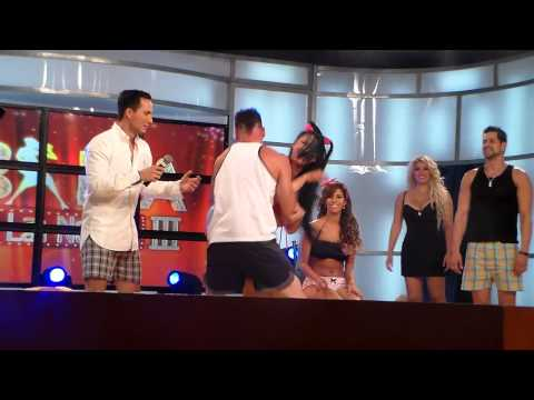 reto 2 en baila la noche 3 revientan los globos hombres