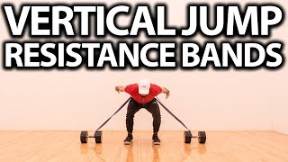 VERTICAL JUMP RESISTANCE BANDS! (7 Exercises to Jump Higher At Home)