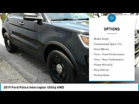 2019 Ford Police Interceptor Utility P10588