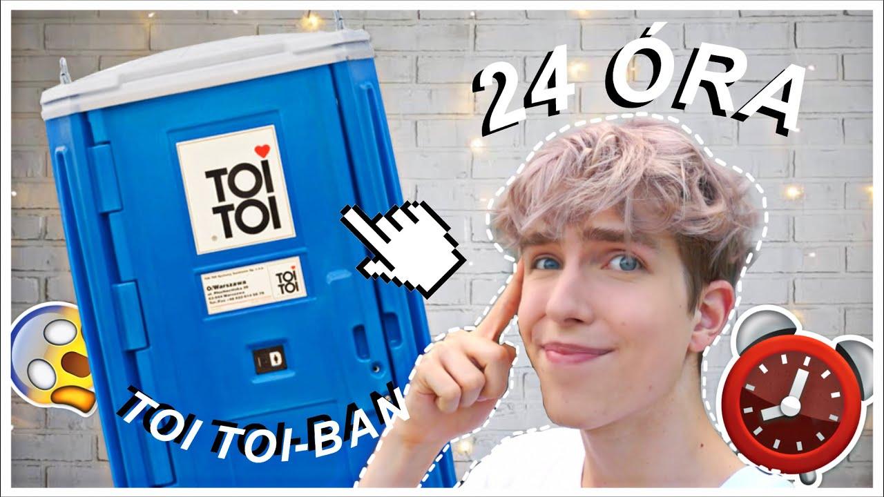 24 ÓRA EGY *TOI TOI* WC-BEN 🚽😱 I WhisperTon
