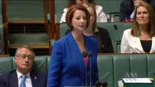 "EVER BEEN BULLIED? ""Not Now, Not Ever!"" JULIA GILLARD misogyny speech"