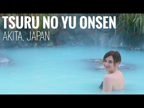 THE MOST BEAUTIFUL ONSEN IN JAPAN | Tsuru no Yu